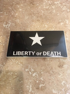 LIBERTY OR DEATH LONE STAR BLACK TACTICAL OFFICIAL BUMPER STICKER PACK OF 50 BUMPER STICKERS MADE IN USA WHOLESALE BY THE PACK OF 50!
