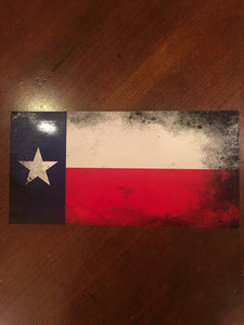 TEXAS FADED FLAG BUMPER STICKERS PACK OF 50