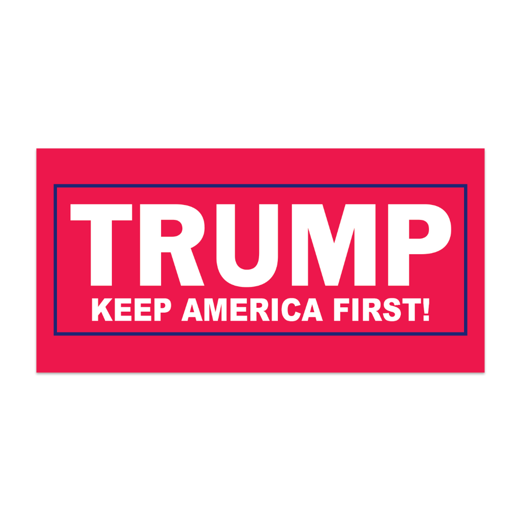 BUMPER STICKERS PACK OF 50 TRUMP KEEP AMERICA FIRST! RED