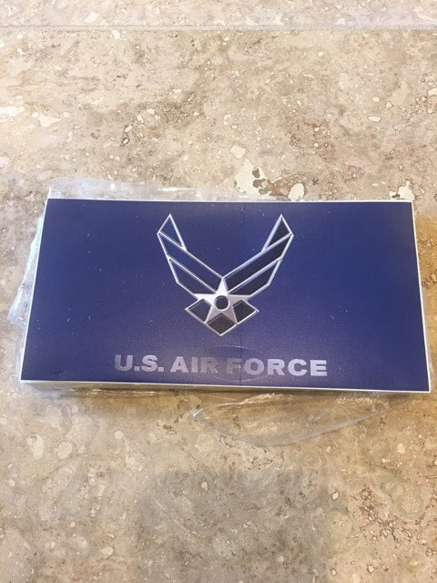USAF U.S. AIR FORCE WINGS BUMPER STICKER SOLD BY THE PACK OF 50