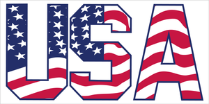 AMERICAN FLAG USA OFFICIAL BUMPER STICKER PACK OF 50 WHOLESALE FULL COLOR
