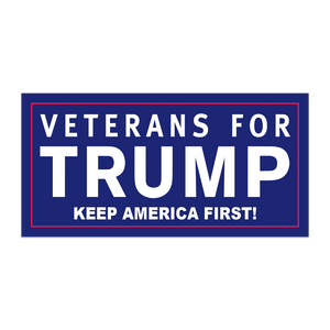 VETERANS FOR TRUMP KEEP AMERICA FIRST BLUE BUMPER STICKERS PACK OF 50