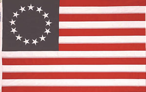 Betsy Ross Flag American Original 13 Stars 100% Nylon 12x18 inches Rough Tex ® 150D-210D Dyed Waterproof UV Protected Brass Grommets