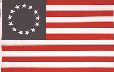 Betsy Ross Flag American Original 13 Stars 100% Nylon 3x5 feet Rough Tex ® 150D-210D Dyed Waterproof UV Protected Brass Grommets 3'x5'