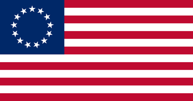 Betsy Ross Flag 3x5ft Nylon 210D double sided