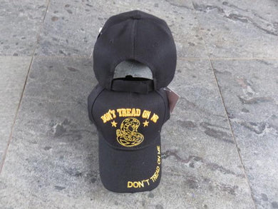 100% COTTON CAP GADSDEN DON'T TREAD ON ME BLACK TACTICAL CAPS