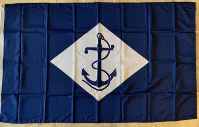 UNITED STATES NAVY DIAMOND AND ANCHOR 1864-1959 100D Rough Tex ® 3'x5'