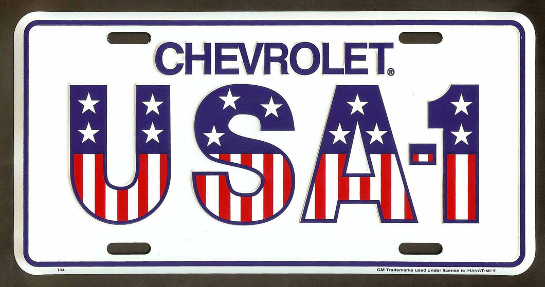 CHEVY USA 1 CHEVROLET LICENSE PLATE