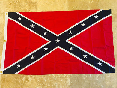 CONFEDERATE BATTLE FLAG 100% COTTON SEWN & EMBROIDERED FLAGS