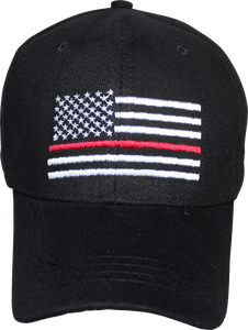 Fire Fighters Matter Memorial Red Line Black Cap