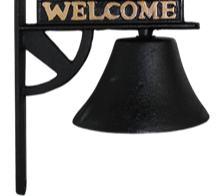 Cast Iron Bell - Rebel Flag Welcome