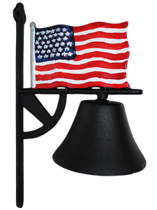 Cast Iron Bell - USA Flag