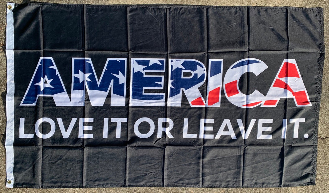 America Love It Or Leave It 3'X5' Flag Rough Tex® 100D