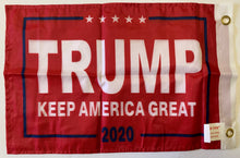 Trump Keep America Great KAG 2020 Red Double Sided Flag- 12''x18'' Rough Tex® 68D Nylon