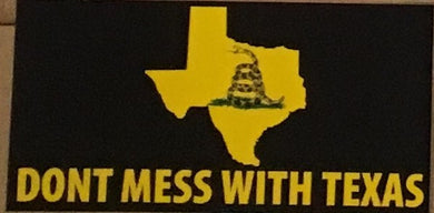 DON'T MESS WITH TEXAS GADSDEN OFFICIAL BUMPER STICKER PACK OF 50 BUMPER STICKERS MADE IN USA WHOLESALE BY THE PACK OF 50!
