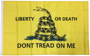 LIBERTY OR DEATH DON'T TREAD GADSDEN FLAG 3X5 POLYESTER
