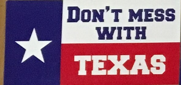 DON'T MESS WITH TEXAS OFFICIAL BUMPER STICKER PACK OF 50 BUMPER STICKERS MADE IN USA WHOLESALE BY THE PACK OF 50!