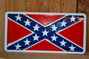 Rebel Flag Auto Tag
