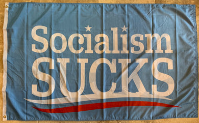 SOCIALISM SUCKS Double Sided FLAG 3'X5' Feet Flag Rough Tex ® Flags 100D