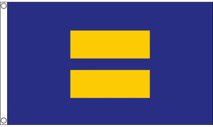 Human Rights Equality 3'x5' blue