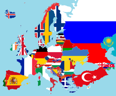 EUROPEAN FLAGS ECONOMICAL 3'X5' SOLD BY THE DOZEN WHOLESALE