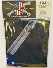 Liberty Or Death 2nd Amendment 1791 Punisher Flag 2'X3'' Rough Tex® 68D Nylon