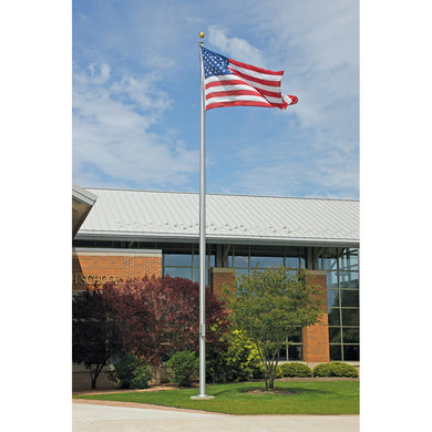 heavy duty 35' SATIN TAPERED FLAG POLE COMMERCIAL (ONE PIECE)