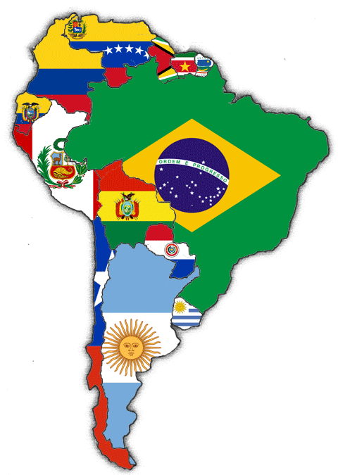 Flags of South American Nations 4x6 Inch Stick Flags Rough Tex ®Sold By The Dozen