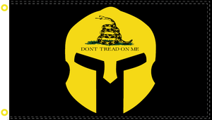 3X5 100D OFFICIAL BANNER GADSDEN WARRIOR BLACK TACTICAL DON'T TREAD ON ME FLAG