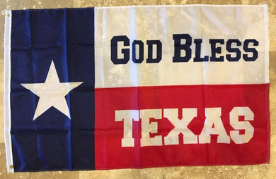 12 3'X5' TEXAN GOD BLESS TEXAS 150D ROUGHTEX 150D NYLON FLAG