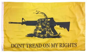 DON'T TREAD ON RIGHTS GADSDEN POLYESTER 3X5 FLAG