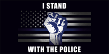 I Stand With The Police Fist Bumper Sticker
