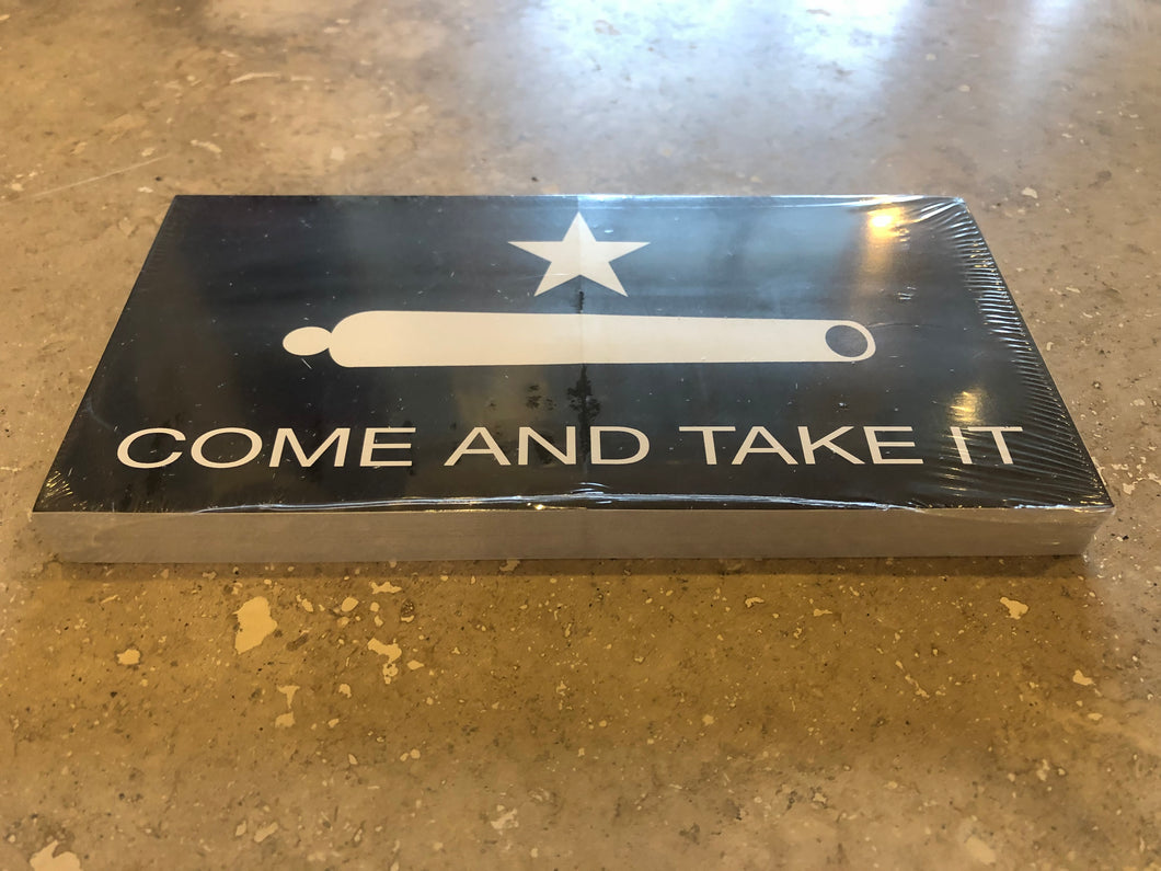 GONZALES COME AND TAKE IT BLACK OFFICIAL BUMPER STICKER PACK OF 50 BUMPER STICKERS MADE IN USA WHOLESALE BY THE PACK OF 50!