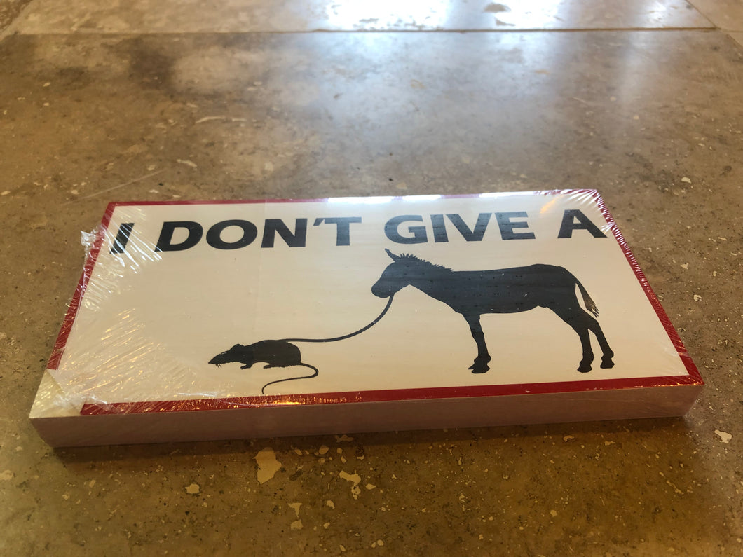 I DON'T GIVE A RATS ASS OFFICIAL BUMPER STICKER PACK OF 50 BUMPER STICKERS MADE IN USA WHOLESALE BY THE PACK OF 50!