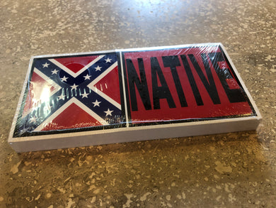 NATIVE REBEL FLAG OFFICIAL BUMPER STICKER PACK OF 50 BUMPER STICKERS MADE IN USA WHOLESALE BY THE PACK OF 50!