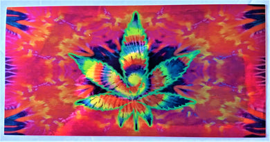 Holographic Psychedelic Rainbow Chrome Weed Leaf  - Bumper Sticker