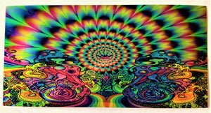"Magic Mushroom Holographic Psychedelic Chrome 2.5""x3"" Bumper Sticker"