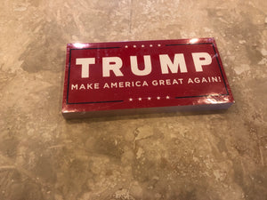 "TRUMP ""MAKE AMERICA GREAT AGAIN"" RED OFFICIAL BUMPER STICKER PACK OF 50 BUMPER STICKERS MADE IN USA WHOLESALE BY THE PACK OF 50!"