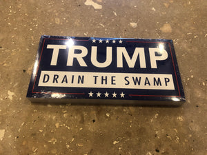 "TRUMP ""DRAIN THE SWAMP"" OFFICIAL BUMPER STICKER PACK OF 50 BUMPER STICKERS MADE IN USA WHOLESALE BY THE PACK OF 50!"