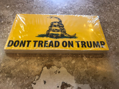 DONT TREAD ON TRUMP OFFICIAL BUMPER STICKER PACK OF 50 BUMPER STICKERS MADE IN USA WHOLESALE BY THE PACK OF 50!