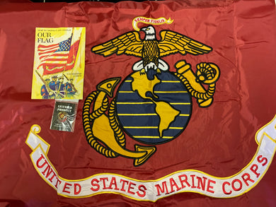 United States Marine Corps Embroidered Double Sided 3'X5' Flag Rough Tex® 150D