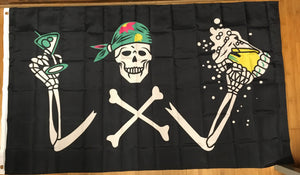 Drinking Pirate Weed Flag 3'X5' Rough Tex® 100D