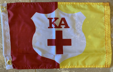 KAPPA ALPHA ORDER KA KAO SUPPLEMENTAL FLAG WITH GROMMETS 12'X18' Rough Tex® 100D