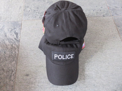 POLICE CAP / HAT WITH USA FLAG ON SIDE