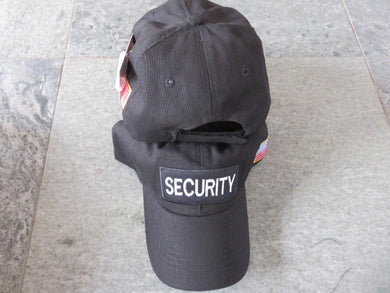 SECURITY CAP / HAT WITH USA FLAG ON SIDE