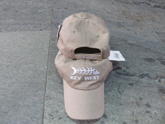 KEY WEST FISH BONES KHAKI CAP / HAT