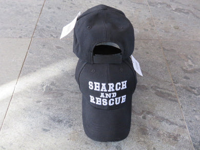 SEARCH AND RESCUE BLACK CAP / HAT