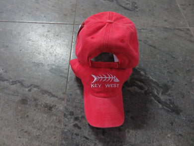 KEY WEST FISH BONES RED CAP / HAT