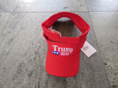 TRUMP 2020 RED VISOR AMERICAN
