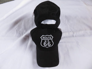 Route 66 Cotton Black  - Cap